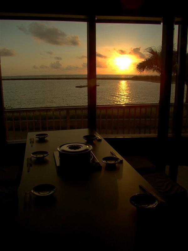 客席から見える夕日